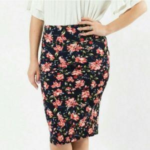 New Agnes & Dora Floral Scuba Pencil Skirt  XL